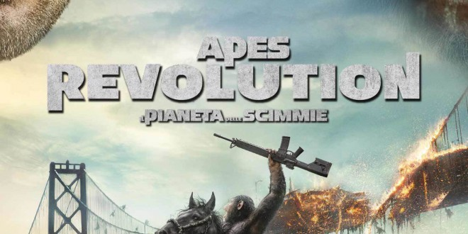 "Poster for the movie ""Apes Revolution - Il pianeta delle scimmie"""