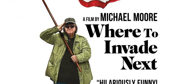 "Poster del film ""Where to Invade Next"""