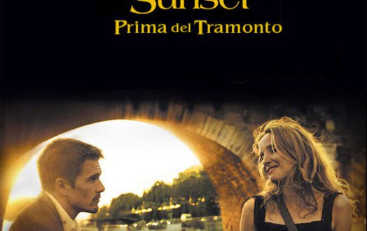 "Poster for the movie ""Before Sunset - Prima del tramonto"""