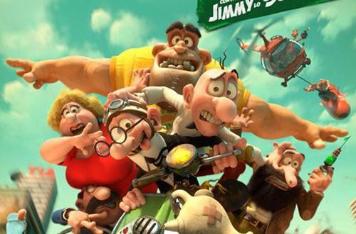"""Poster del film """"Mortadello e Polpetta contro Jimmy lo Sguercio"""""""