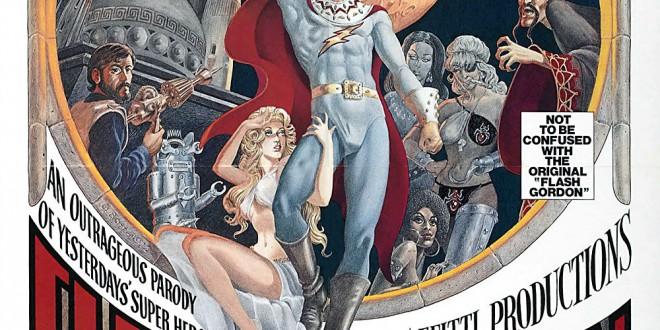 """Poster for the movie """"Flesh Gordon: Andata e ritorno al pianeta Porno"""""""
