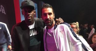 Gigi Buffon e Usain Bolt, incontro tra leggende