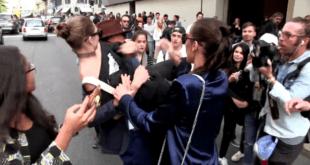 Gigi Hadid sollevata da uno sconosciuto per le strade di Milano