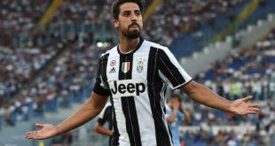 Sami Khedira, un'esultanza con la Juventus