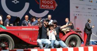 Mille Miglia 2017. I bresciani Vesco e Guerini hanno vinto