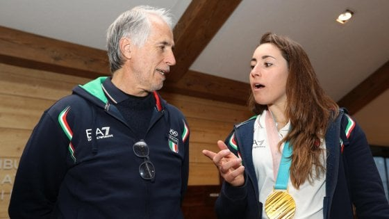 Giovanni Malagò e Sofia Goggia a PyeongChang 2018