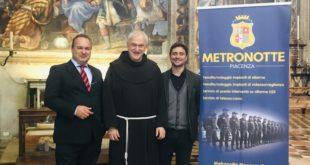 Metronotte Piacenza dona ai Frati Minori di Santa Maria di Campagna un impianto di allarme