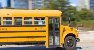 Fuori strada uno scuolabus carico di giovani studenti. Fortunatamente nessun ferito