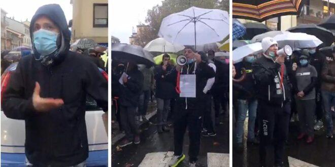 Manifestazione contro il dpcm